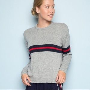 Brandy Melville gray striped sweater